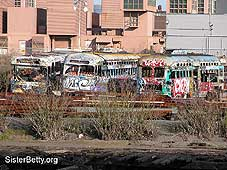 F-Line Cars with Graffiti: Click for larger image