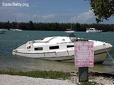 Sunken boat: Click for larger image