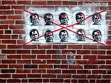 George Bush Graffiti: Click for larger image